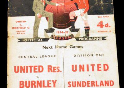 Sheffield United v Manchester United 02.04.1955
