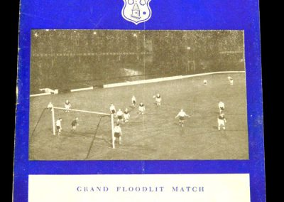 Shamrock Rovers v Everton 19.03.1958 | Floodlit