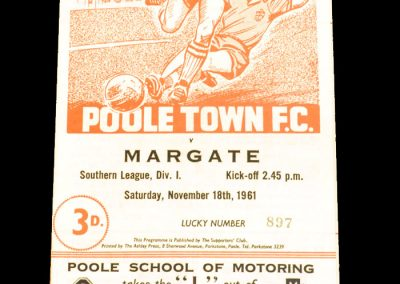Poole Town FC v Margate 18.11.1961
