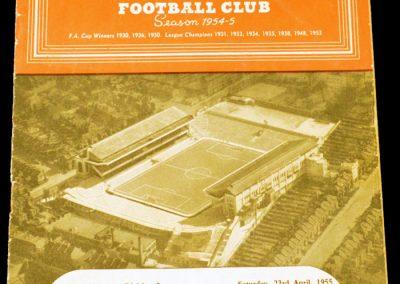 Arsenal v Manchester United 23.04.1955