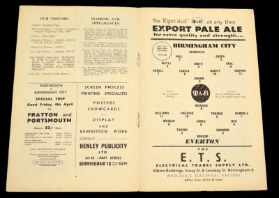 Birmingham City v Everton 29.03.1958
