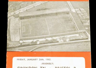 Swindon Town v Bristol Rovers 26.01.1962 | Friendly