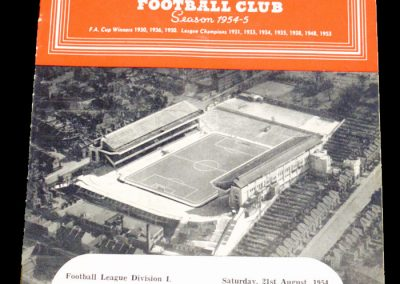 Newcastle United v Arsenal 21.08.1954