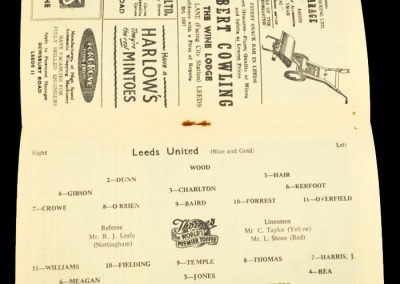 Leeds United v Everton 07.04.1958