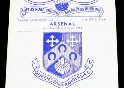 Queens Park Rangers v Arsenal 04.09.1954