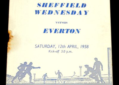 Sheffield Wednesday v Everton 12.04.1958