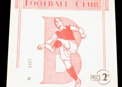 Bournemouth and Boscombe Athletic v Arsenal Reserves 16.10.1954
