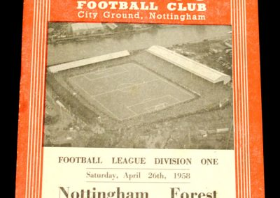 Nottingham Forest v Everton 26.04.1958