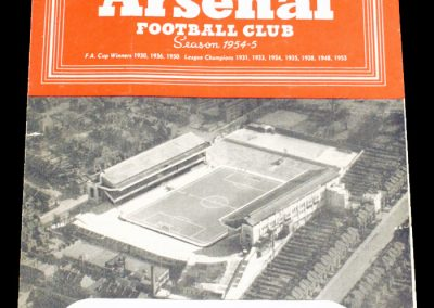 Tottenham Hotspur v Arsenal 23.10.1954