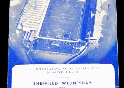 Sheffield Wednesday v Barcelona 28.02.1962 | International Fairs Cities Cup Quarter Final