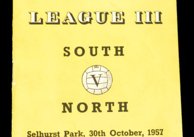 South v North 30.10.1957 | League 3