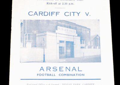 Cardiff City v Arsenal 01.01.1955