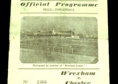 Wrexham v Chester 10.05.1958 | Welsh Cup Final Replay