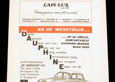 Dutch (Amsterdam) v London 21.03.1962