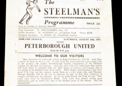 Corby Town FC v Peterborough United 24.08.1957