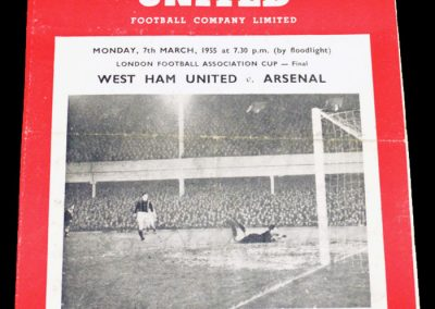 West Ham United v Arsenal 07.03.1955 | London Cup Final