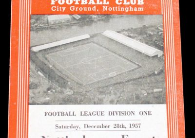 Nottingham Forest v Sheffield Wednesday 28.12.1957
