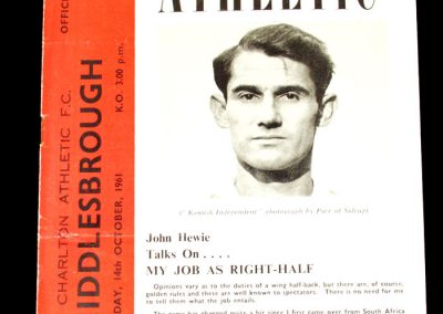 Charlton Athletic v Middlesbrough 14.10.1961