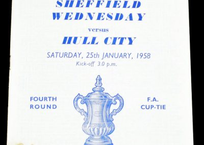 Hull City v Sheffield Wednesday 25.01.1958 | FA Cup 4th Round