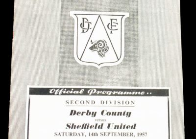 Derby County v Sheffield United 14.09.1957