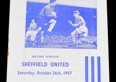 Huddersfield Town v Sheffield United 26.10.1957