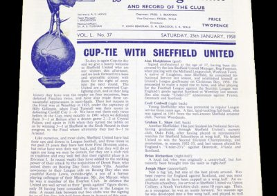 Tottenham Hotspur v Sheffield United 25.01.1958 | FA Cup 4th Round