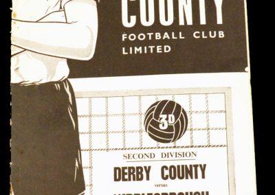 Derby County v Middlesbrough 16.12.1961