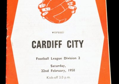 Cardiff City v Sheffield United 22.02.1958