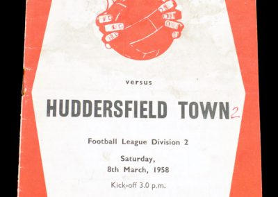 Huddersfield Town v Sheffield United 08.03.1958