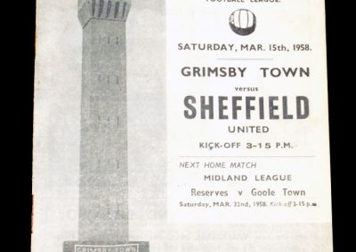 Grimsby Town v Sheffield United 15.03.1958