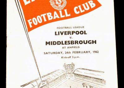 Liverpool v Middlesbrough 24.02.1962