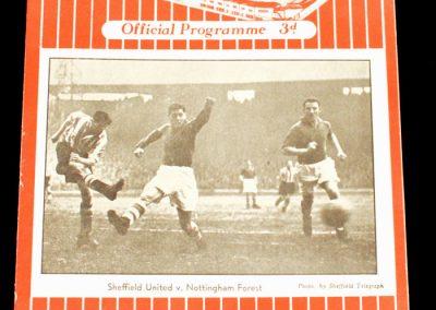 Sheffield United v Arsenal 22.01.1955 | Postponed