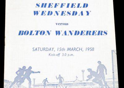 Sheffield Wednesday v Bolton Wanderers 15.03.1958
