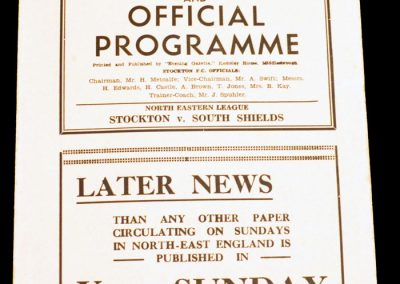 Stockton v South Shields 19.10.1957