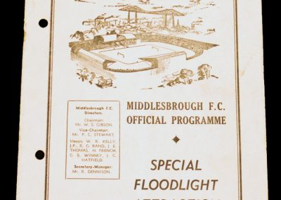 Middlesbrough FC v Cologne 13.11.1957