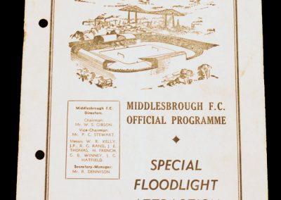 Middlesbrough FC v Cologne 13.11.1957