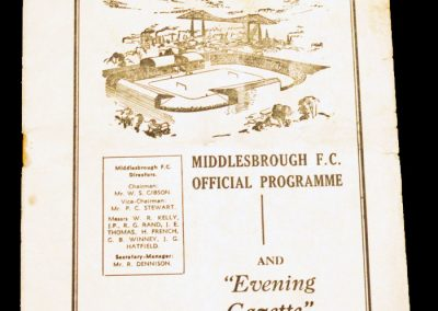 Middlesbrough FC v Barnsley 01.02.1958