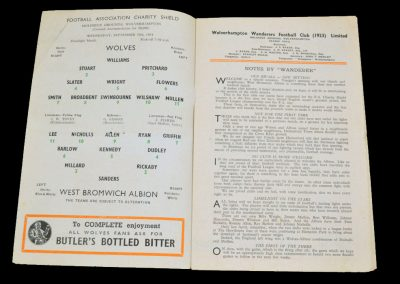 Wolverhampton Wanderers v West Bromwich Albion 29.09.1954 | Charity Shield