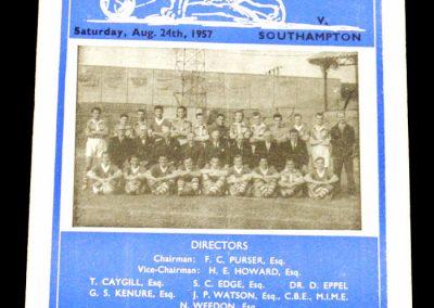 Millwall v Southampton 24.08.1957