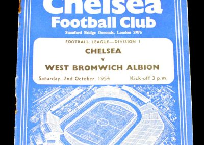 Chelsea v West Bromwich Albion 02.10.1954