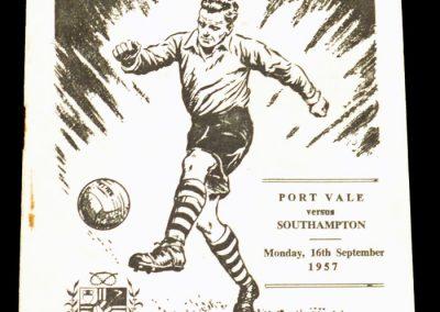 Port Vale v Southampton 16.09.1957