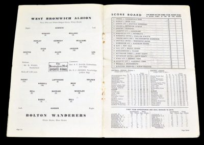Bolton Wanderers v West Bromwich Albion 13.11.1954