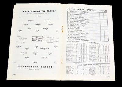 Manchester United v West Bromwich Albion 27.11.1954