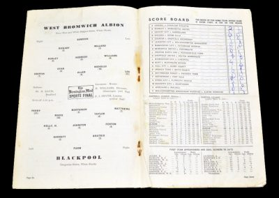 Blackpool v West Bromwich Albion 11.12.1954