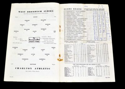 Charlton Athletic v West Bromwich Albion 29.01.1955 | FA Cup 4th Round