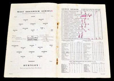 Burnley v West Bromwich Albion 05.02.1955