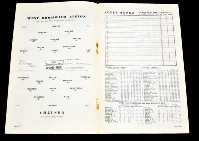 Chelsea v West Bromwich Albion 09.03.1955
