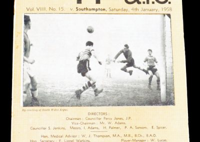 Newport County v Southampton 04.01.1958