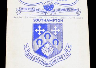 Queens Park Rangers v Southampton 18.01.1958