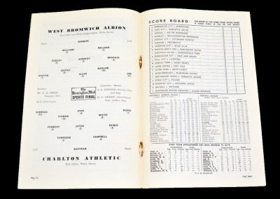 Charlton Athletic v West Bromwich Albion 26.03.1955